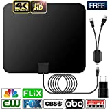 HDTV Antenna, Indoor Digital Amplified TV Antennas 50-80 Miles Range with Switch Amplifier Signal Booster for Local Free Channels