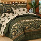 Rocky Mountain Elk 6 Pc TWIN Comforter Set (Comforter, 1 Flat Sheet, 1 Fitted Sheet, 1 Pillow Case, 1 Sham, 1 Bedskirt) SAVE BIG ON BUNDLING!