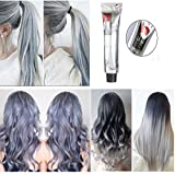 Hair Dyes, LuckyFine - Hair Cream Hair Toning Poly Tint Wash Hair Dyeing Silver Gray Hair Wax 100ml