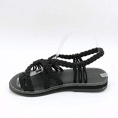 Verano Zapatillas Negro Zapatos de Mujeres Zapatillas de de Sandalias Mujer Playa Zapatos Sandalias Moda Sandalias Zapatillas para anYB0W5I