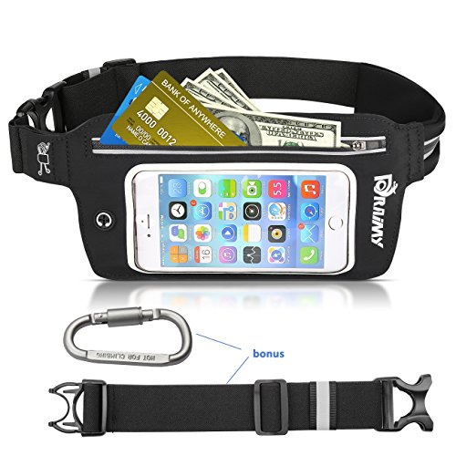 Adjustable Running Belt Waterproof Fanny Pack with Touch Screen, Waist Bag Fits iPhone 6S,7,7 plus, Samsung Galaxy S8 ,S8+, Perfect for Hiking, Running, rock Climbing,Fitness,travel