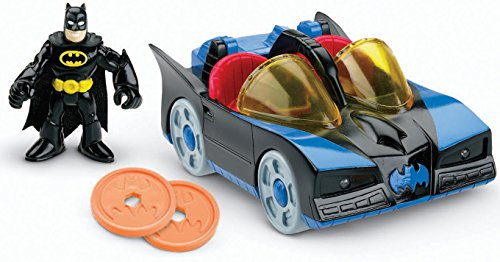 Fisher-Price Imaginext DC Super Friends, Batmobile with Lights