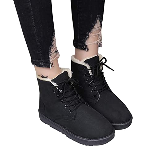 072b9576772fa Amazon.com  AgrinTol Women Snow Boots Plush Warm Flat Ankle Boots Winter  Outdoor Work Calf Boots Women Boots Shoes  Shoes