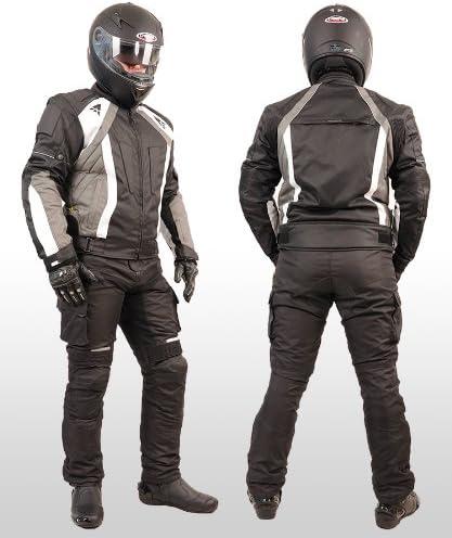 AUS TEXTIL//CORDURA f/ür Motorrad Biker Chopper Cross XL, WEISS MOTORRADKOMBI JACKE HOSE