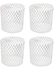 Kraftex 4pk Gutter Guards Leaf Filter Gutter Strainer & Downspout Guard - Better Than Roof Gutter Screen - Mesh Leaf Guards with Up to 4in Diameter - Gutter Drain Cover & Down Spout Rain Protector