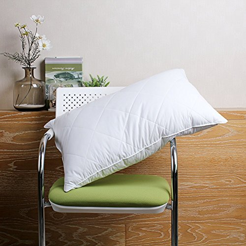 [Goose down Feather Pillow - 600 Thread Count Cotton Cover, Bedding Standard/Queen Size,20