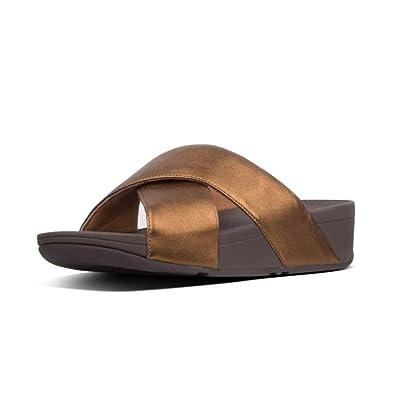 sale retailer f7a06 687dd Fitflop Lulu Cross Slide, Sandali a Punta Aperta Donna