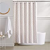 AmazonBasics Metallic Gold Polka Dot Shower Curtain - 72 Inch
