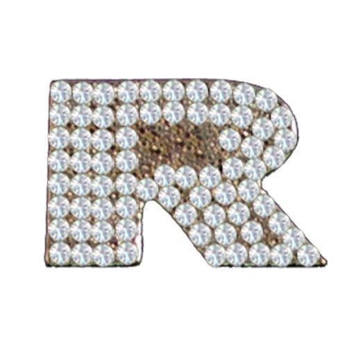 Cubic Zirconium Charm Letter R