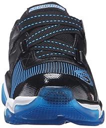 Skechers Kids Boys\' Skech-Air 3.0-Down Rush Running Shoe, Black/Blue, 13 M US Little Kid