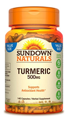 Sundown Naturals Turmeric 500mg Herbal Supplements, 140 Count