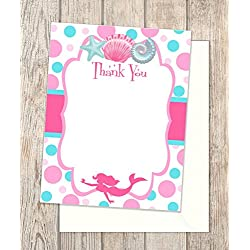 21 Mermaid Party Thank You Cards Send These To Guests To Show