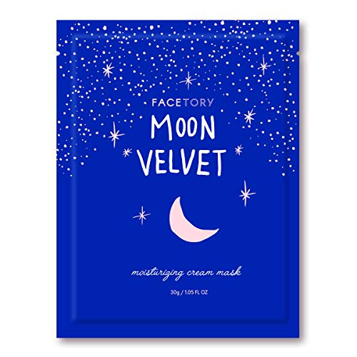 FaceTory Moon Velvet Moisturizing Facial Sheet Mask (Single Mask) - Moisturizing, Brightening, and Anti-Aging