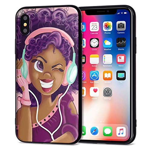 iPhone XR Case African American Afro Girls Women Slim Fit Shockproof Bumper Cell Phone Accessories Thin Soft Black TPU Protective Apple iPhone XR Cases (16)