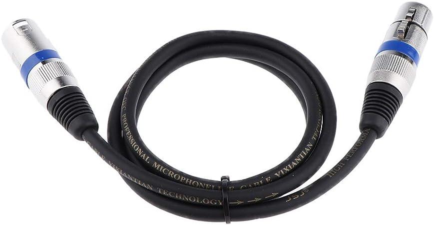 Shiwaki 3-Pin XLR Macho A Hembra XLR Micr/ófono Mezclador Altavoz Cable De Audio 50cm 0.5m