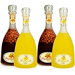 Italian Limoncello & Wild Strawberries Collection 03 (Pack 4 Satin Finish Bottles)
