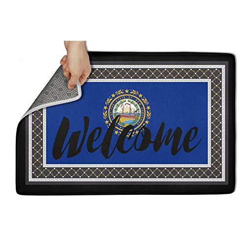 (TONGZIRT Non Slip Doormat New Hampshire Entrance Welcome Welcome Rugs Designer Doormats)