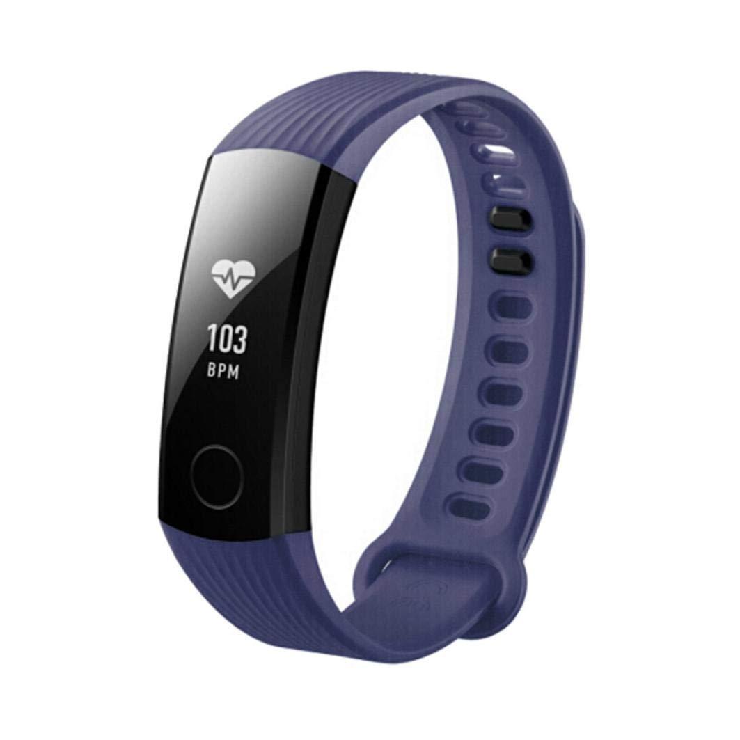 Bestow Nueva Moda Deportes Pulsera de Silicona Huawei Honor 3 Reloj Inteligente. Reloj Inteligente Banda Electršnica Band Gadgets(Azul Marino): Amazon.es: ...