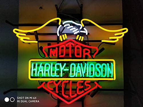 Neon princess Factory 24x20 inches Motor Harley-Davidson Cycles Real Glass  Tube Neon Light Home Beer Bar Pub Recreation Room Game Lights Windows Signs