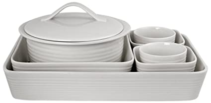 Gordon Ramsay Maze White 7 Piece Bakeware Set