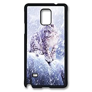 Leopards In The Snow Custom Back Phone Case for Samsung Galaxy Note 4 PC Material Black -1210211