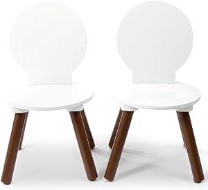 Milliard Kids Chair, Mid-Century Modern Wooden Chair Set for Kids- 2 Pack
