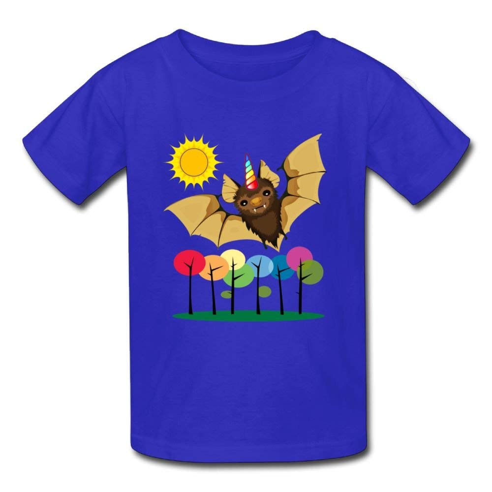 Short-Sleeves T-Shirt Unicorn Bat Birthday Day Baby Boys Toddlers