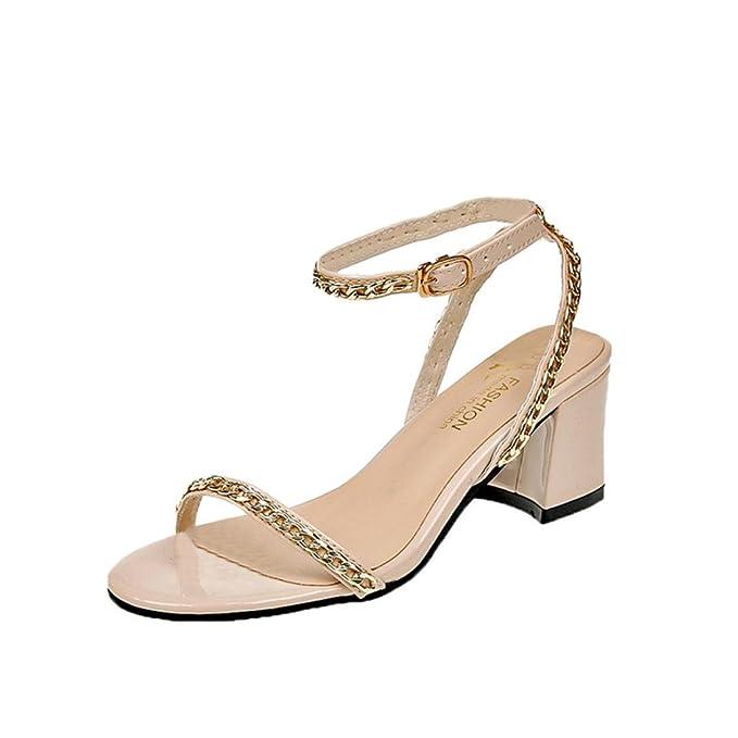 SmrBeauty Festa Scarpe con Tacchi Alti Sandali Donna Estive Eleganti Scarpe e0849ebe175