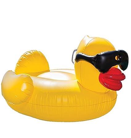 WZG Floatie Kings, Flotador Amarillo Inflable Del Ocioso De La Piscina Del Pato De Derby