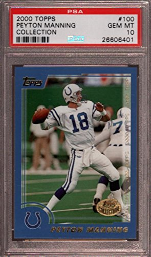 2000 TOPPS COLLECTION #100 PEYTON MANNING COLTS PSA 10 F2398264-401 2000 Topps Collection