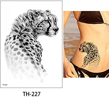 adgkitb Etiqueta engomada Impermeable del Tigre del Tatuaje Animal ...