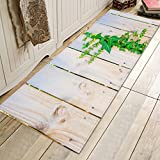 Indoor Outdoor Doormats Flannel 3d Digital Printing Farmhouse Style Carpet Mats Antislip By Back Soft Bathroom Mats And Rugs-White 60x180cm(24x71inch)