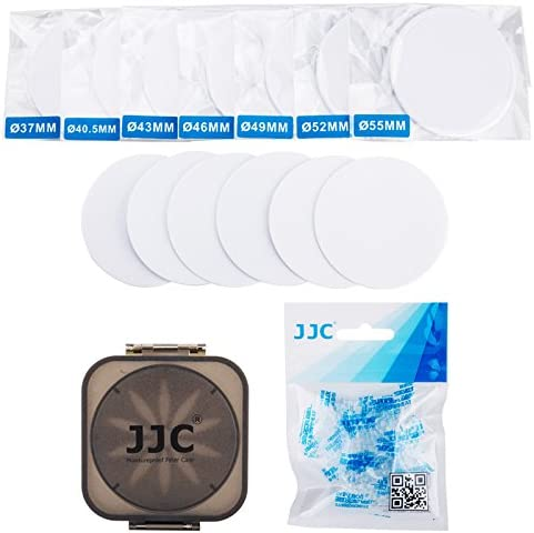 JJC FLC-S Moistureproof Rubber Seal Ring Filter Dryer Case for 37mm 40.5mm 43mm 46mm 49mm 52mm 55mm UV CPL ND Camera Lens Filter with Replaceable Silica Gel Dehumidifier Desiccant