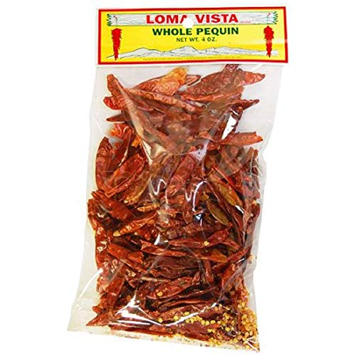 Loma Vista Whole Dried Pequin Peppers, 4 Ounces