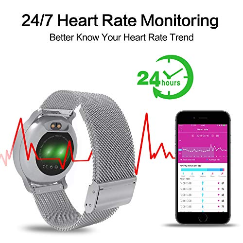 BingoFit Fitness Tracker, Smart Watch Water Resistant Activity Tracker with Heart Rate Monitor, Sleep Monitors Calorie Pedometer Blood Pressure Sport Smartwatch for Men Women Kids Gifts