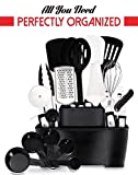 Dreaming About All Your Kitchen Tools Organized? COMPLETE 22 Stainless Steel Home Kitchen Tools and Gadgets Set + Tools Holder by GR Kitchen