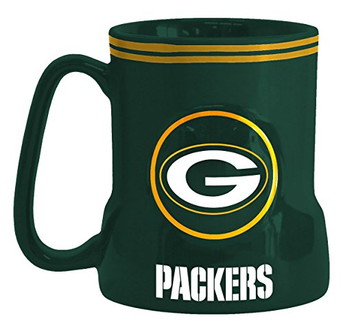 NFL Green Bay Packers Sculpted Game Time Mug, 18-ounce, Green