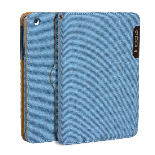 Juppa® Executive Suede Design Finish Hülle Tasche mit Premium Interieur Leder umfasst Ständer Feature, Kartenhalter, Displayschutzfolie, Tragegurt und Eingabestift Kugelschreiber für Apple iPad Mini -