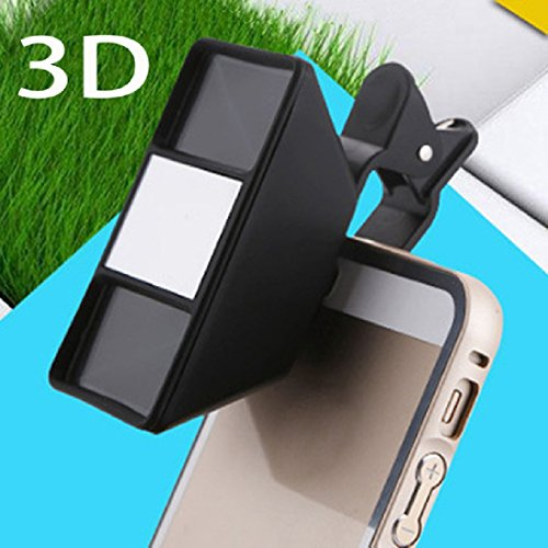 QIXINSTAR 1Pc Smartphone 3D Stereoscopic Lens 3D Camera Stereo Photos Fisheye Lens With Clip (3d Stereoscopic)