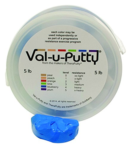 Fabrication Enterprises 10-3954 Val-U-Putty Exercise Putty, Blueberry(Firm), 5 lb.