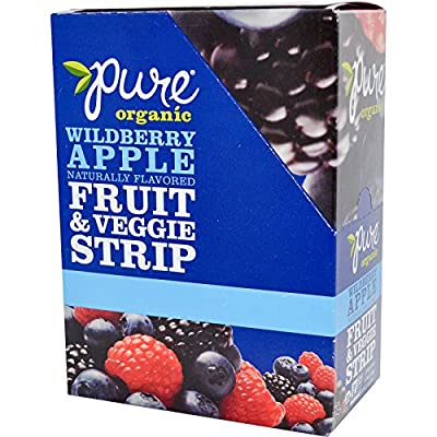 Pure Bar, Organic, Fruit & Veggie Strip, Wildberry Apple, 24 Bars, 0.49 oz