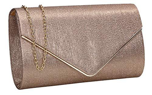 - SWANKYSWANS Maya Shiny Envelope Clutch Bag Bronze