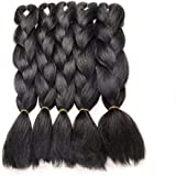 5 Pieces Jumbo Braid Synthetic Hair Kanekalon Hair Braiding Extensions