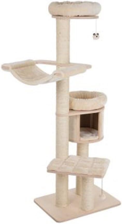 Cat Árbol Crema XL Compact Plataformas Snuggle den lavable almohadillas Climb Play sueño