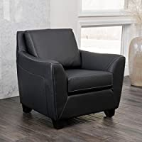 Christopher Knight Home 232947 Monty Club Chair, Black