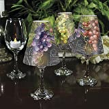 CounterArt Chalkboard Decorative Wine Glass Shade, Set of 4
