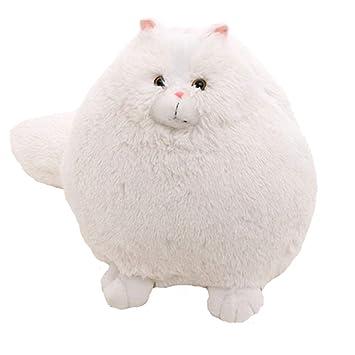 Simulación Blanca Muñeca de Peluche de un Gato Persa, muñeco de Peluche de Peluche Suave