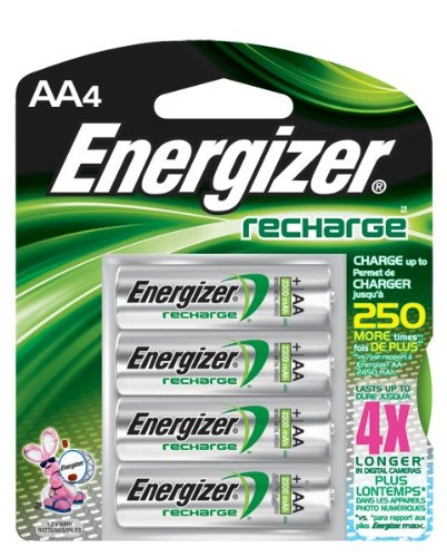 Recharge AA Batteries, 8/Pkg