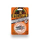 Gorilla Tough & Clear Double Sided Mounting Tape, 1 Inch x 60 Inches, Clear