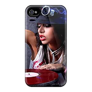 High Quality Shock Absorbing Case For Iphone 4/4s-the Girl Dj by runtopwell
